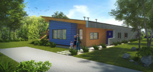 Graduate students in LTU's Master of Architecture Program developed the design on the new Commerce Twp home