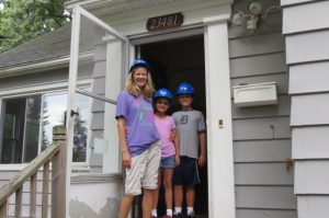 Randall family in entry