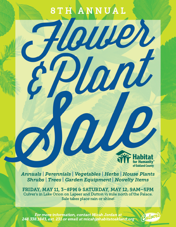 8th Annual Flower & Plant Sale