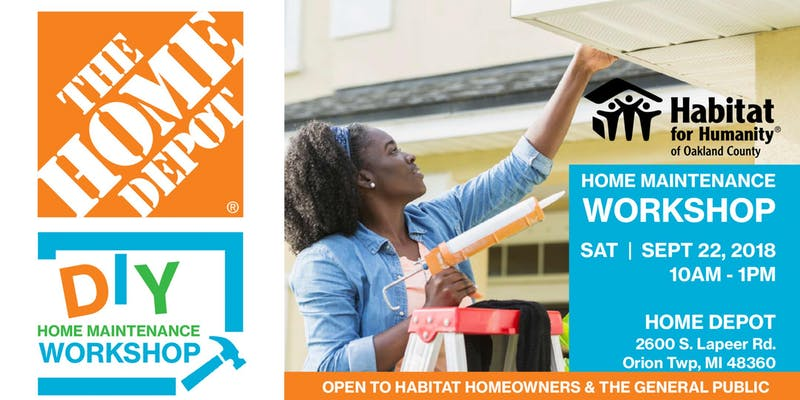 Home Depot DIY Home Maintenance Workshop