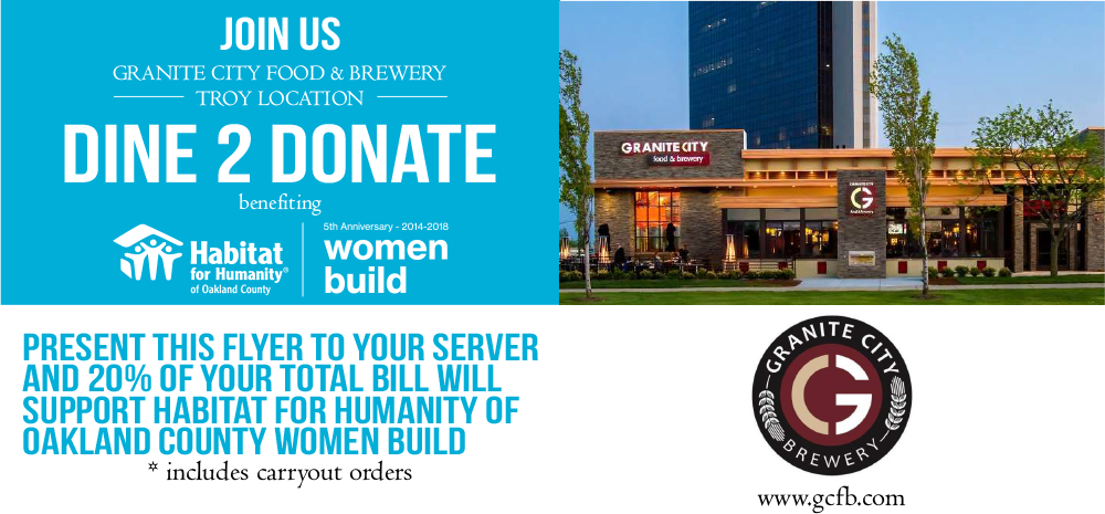 Dine to Donate for Women Build