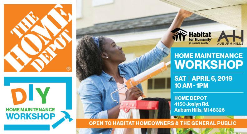 Home Depot DIY Home Maintenance Workshop