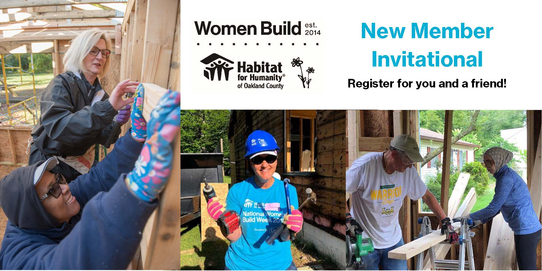 Women Build September Meeting and New Member Invitational